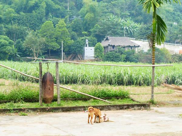 Village bell Hoa Binh Viet Nam 2015