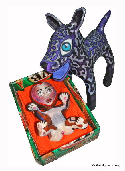 Aqua Mutt & the Baby in the Box (private collection_ ; image taken during display at Salon des Refuses
